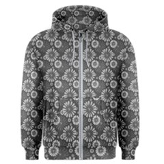 Flowers Delight In Grey Men s Zipper Hoodie by TimelessFashion