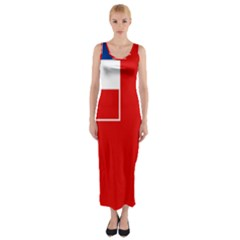 Naval Ensign Of Yugoslavia, 1949-1993 Fitted Maxi Dress by abbeyz71