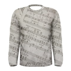 Sheet Music Paper Notes Antique Men s Long Sleeve Tee by Pakrebo