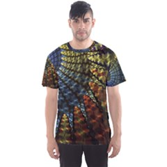 Fractal Spiral Colorful Geometry Men s Sports Mesh Tee
