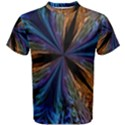Abstract Background Kaleidoscope Men s Cotton Tee View1