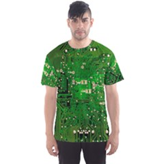 Background Green Board Business Men s Sports Mesh Tee