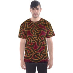 Celtic Spiritual Pattern Art Men s Sports Mesh Tee