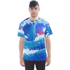 Japanese Wave Japanese Ocean Waves Men s Sports Mesh Tee