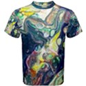 Paint Acrylic Paint Art Colorful Men s Cotton Tee View1