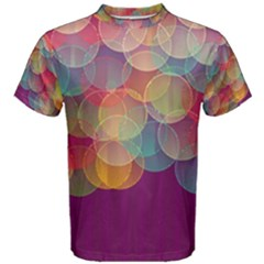 Background Circles Abstract Men s Cotton Tee by Pakrebo
