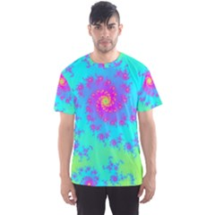 Spiral Fractal Abstract Pattern Men s Sports Mesh Tee