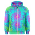 Spiral Fractal Abstract Pattern Men s Zipper Hoodie View1
