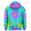 Spiral Fractal Abstract Pattern Men s Zipper Hoodie View2