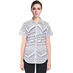 Circle Music Women s Short Sleeve Shirt by HermanTelo