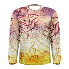 Scrapbooking Paper Music Men s Long Sleeve Tee by AnjaniArt