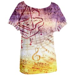 Scrapbooking Paper Music Women s Oversized Tee by AnjaniArt