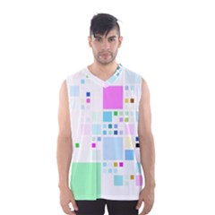 Square Colorful Pattern Geometric Men s Sportswear