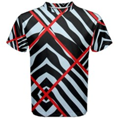 Model Abstract Texture Geometric Men s Cotton Tee