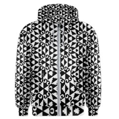 Geometric Tile Background Men s Zipper Hoodie