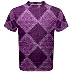 Purple Pattern Men s Cotton Tee