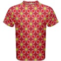Red Yellow Pattern Design Men s Cotton Tee View1