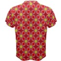 Red Yellow Pattern Design Men s Cotton Tee View2