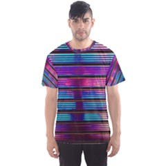 Blue And Pink Wallpaper Men s Sports Mesh Tee