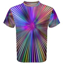 Rays Colorful Laser Men s Cotton Tee by AnjaniArt