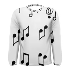 Piano Notes Music Men s Long Sleeve Tee by HermanTelo