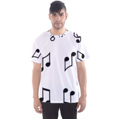 Piano Notes Music Men s Sports Mesh Tee