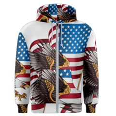 American Eagle Clip Art Men s Zipper Hoodie by Bejoart