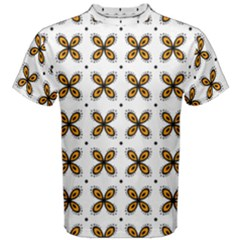 Pattern Orange Men s Cotton Tee by HermanTelo