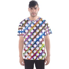 Rings Geometric Circles Random Men s Sports Mesh Tee