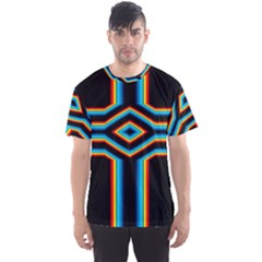 Cross Abstract Neon Men s Sports Mesh Tee