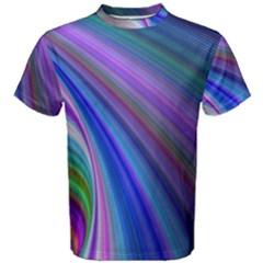 Background Abstract Curves Men s Cotton Tee by Bajindul
