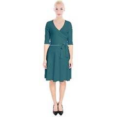 Teal Green Wrap Up Cocktail Dress by blkstudio