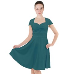 Teal Green Cap Sleeve Midi Dress by blkstudio