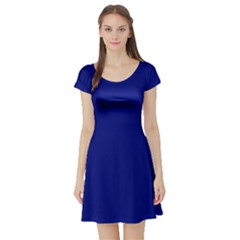 Vibrant Blue Short Sleeve Skater Dress by blkstudio