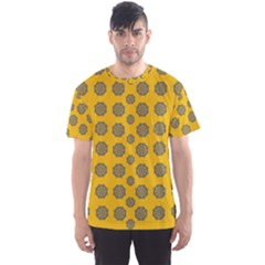 Sensational Stars On Incredible Yellow Men s Sports Mesh Tee