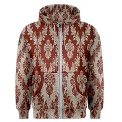 Baroque Mill Fabric Men s Zipper Hoodie