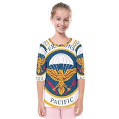 Seal Of Special Operations Command Pacific Kids  Quarter Sleeve Raglan Tee by abbeyz71