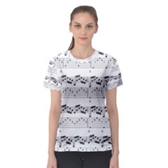 Notes Lines Music Women s Sport Mesh Tee by Mariart