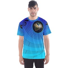 Music Reble Sound Concert Men s Sports Mesh Tee