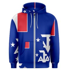 Flag Of The French Southern And Antarctic Lands Men s Zipper Hoodie by abbeyz71