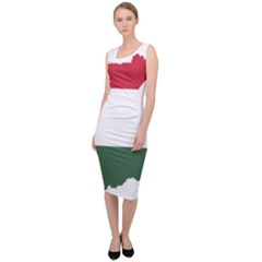 Hungary Country Europe Flag Sleeveless Pencil Dress by Sapixe
