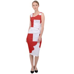 Switzerland Country Europe Flag Sleeveless Pencil Dress by Sapixe