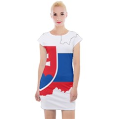 Slovakia Country Europe Flag Cap Sleeve Bodycon Dress by Sapixe