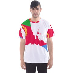 Eritrea Flag Map Geography Outline Men s Sports Mesh Tee