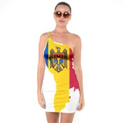 Moldova Country Europe Flag One Soulder Bodycon Dress by Sapixe