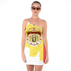 Belgium Country Europe Flag One Soulder Bodycon Dress by Sapixe