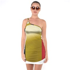 Belgium Flag Country Europe One Soulder Bodycon Dress by Sapixe