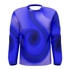 Cobalt Blue Spiral Music Note Men s Long Sleeve Tee by CrypticFragmentsDesign