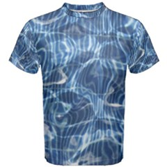 Abstract Blue Diving Fresh Men s Cotton Tee by HermanTelo