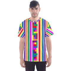 Rainbow Geometric Spectrum Men s Sports Mesh Tee